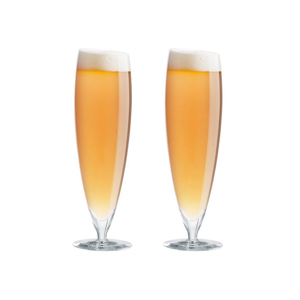 北歐櫥窗 eva solo|14度的傾斜啤酒杯 (2入、500ml)