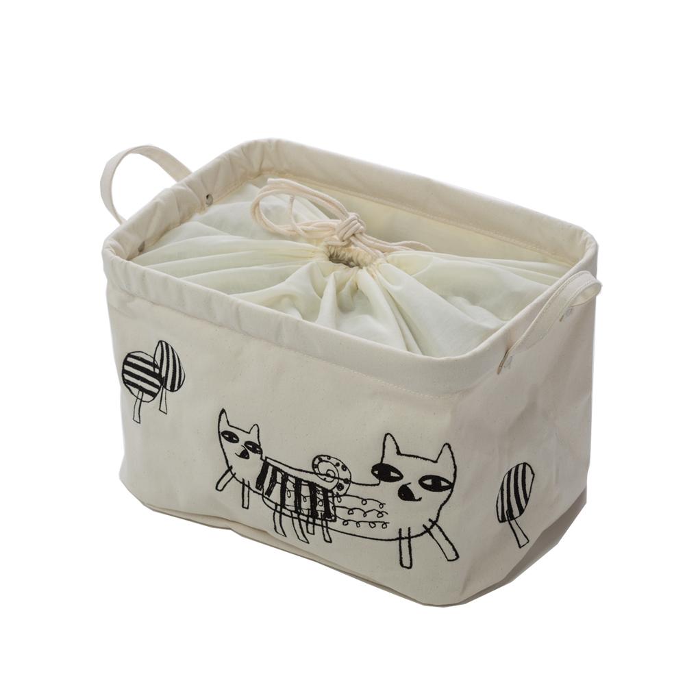 北歐櫥窗 cindymode|朵拉狐狸刺繡方形收納袋(中)