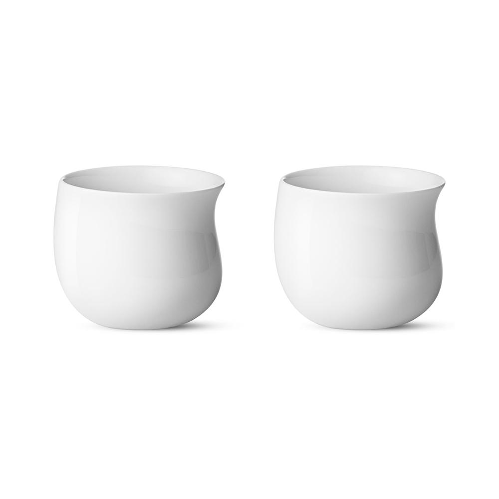 北歐櫥窗 Georg Jensen Cobra 波浪白瓷保溫杯 (150 ml、二入一組)