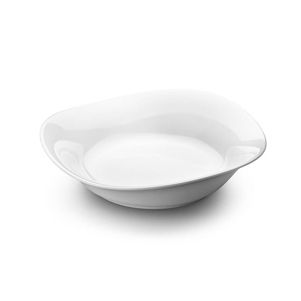 北歐櫥窗 Georg Jensen|Cobra 波浪白瓷碗 (淺、大)