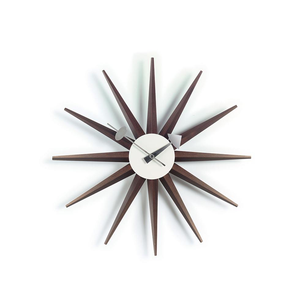 北歐櫥窗 Vitra Sunburst Clock 豔陽綻放掛鐘