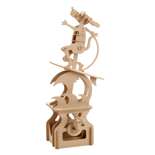 賽先生科學工廠|異想模界-木作模型 衝浪狗