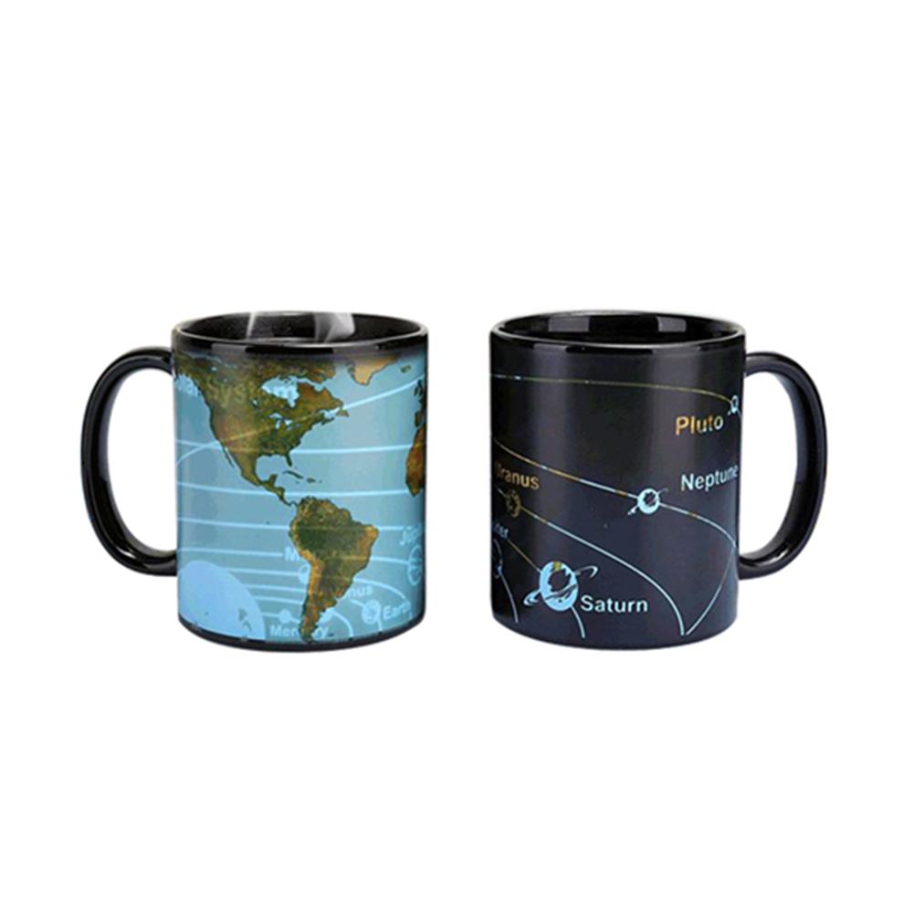 賽先生科學工廠|行星地圖感溫變色杯