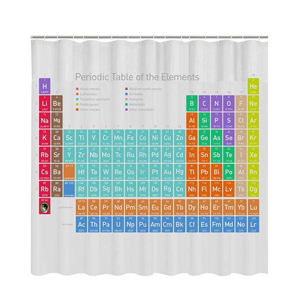 賽先生科學工廠 科學浴簾-優雅化學元素表