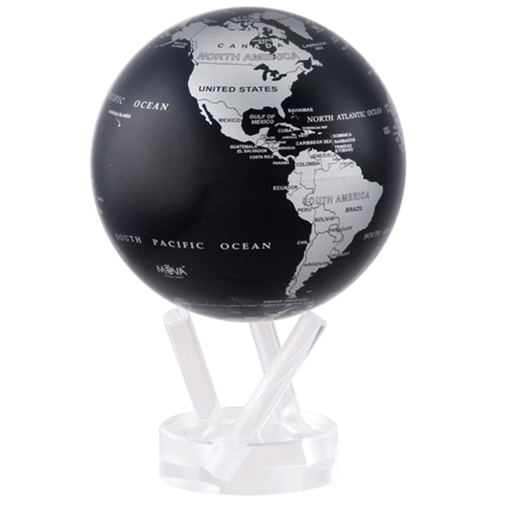 賽先生科學工廠|MOVA光能地球儀-銀黑(小/4.5吋)