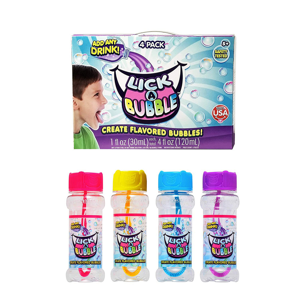 賽先生科學工廠 美國Lick-A-Bubble可以吃的泡泡 - 把所有飲料變泡泡(4罐/盒)