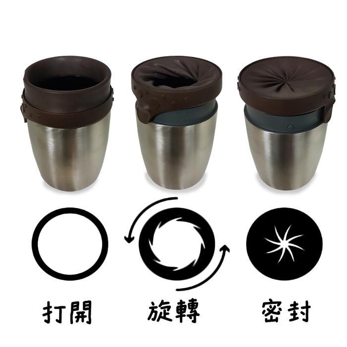 Neolid|STEEL 密封扭扭不銹鋼隨身杯 200ml (兩色可選)