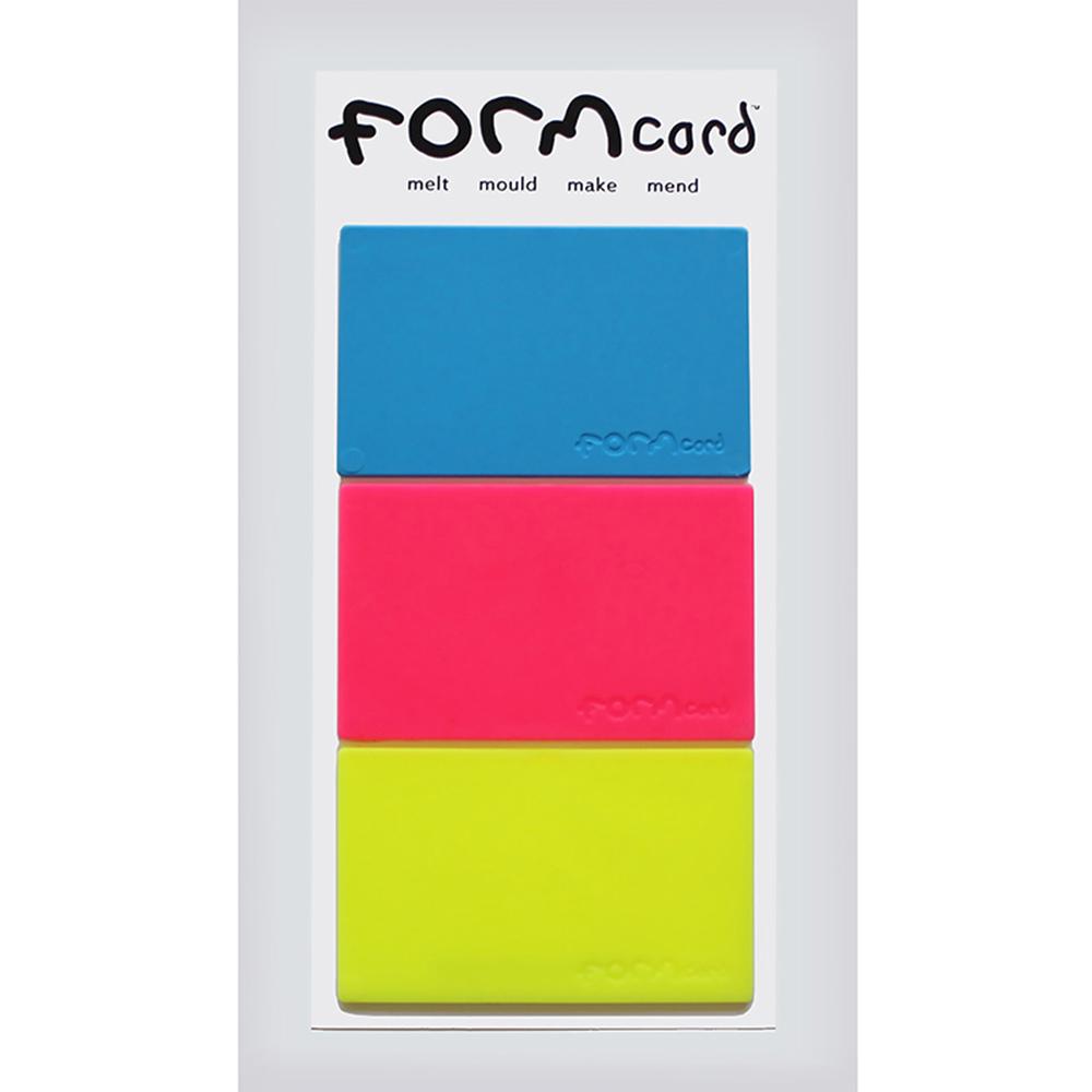 FORMcard|多功能隨身塑形凝土 - 黃/淺藍/粉紅
