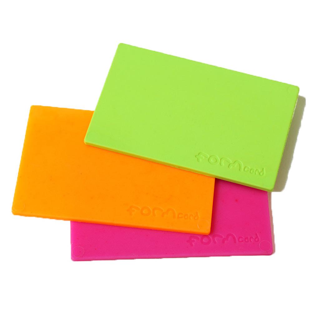 FORMcard|多功能隨身塑形凝土 - 橘/綠/粉紅