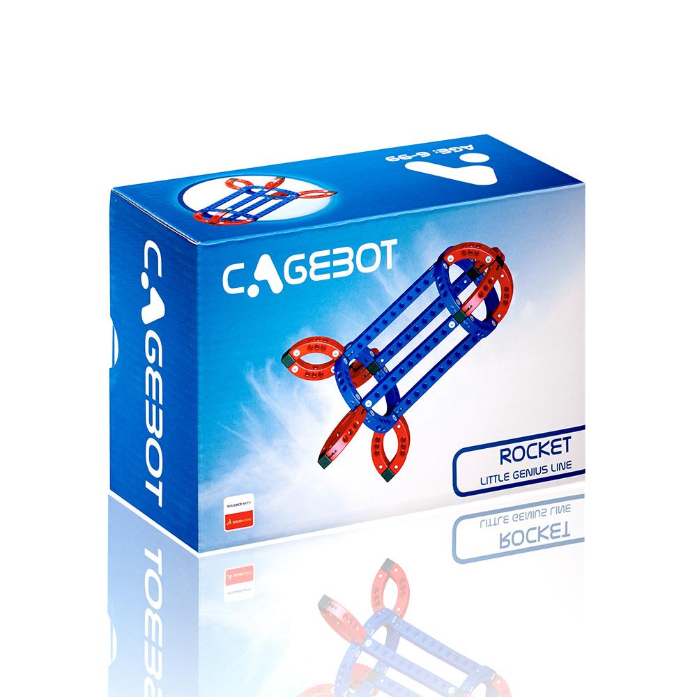 Cagebot|多功能電動智能積木 - 智能火箭