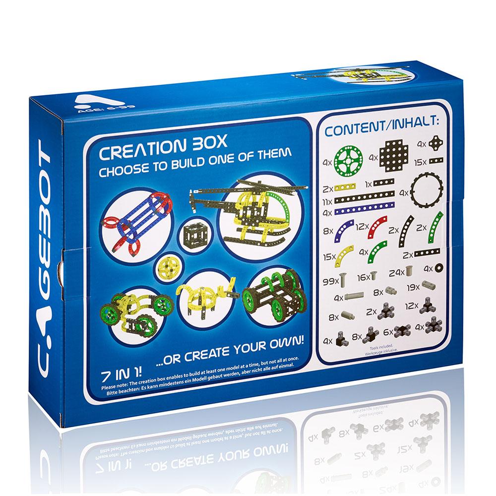 Cagebot|多功能電動智能積木 - 智能創意組合箱