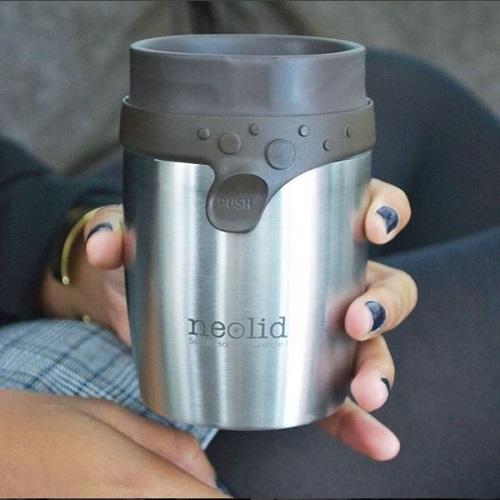 Neolid|STEEL 密封扭扭不鏽鋼保溫保冷隨身杯 200ml (兩色可選)