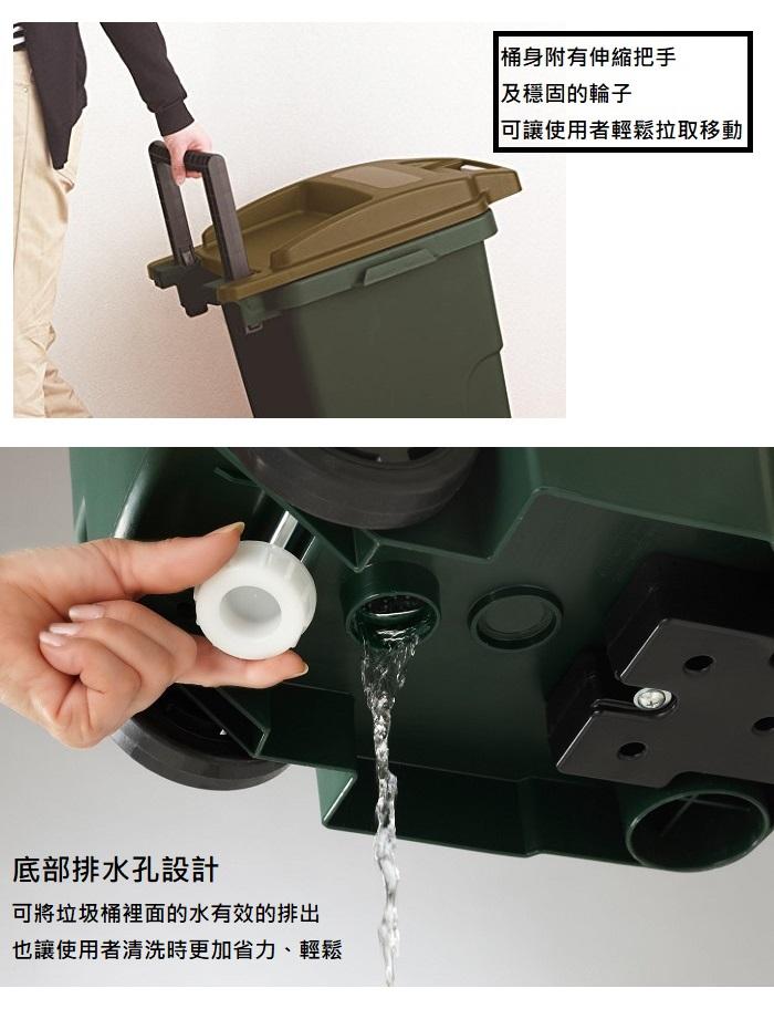 eco container style|機能型拉桿垃圾桶 45L