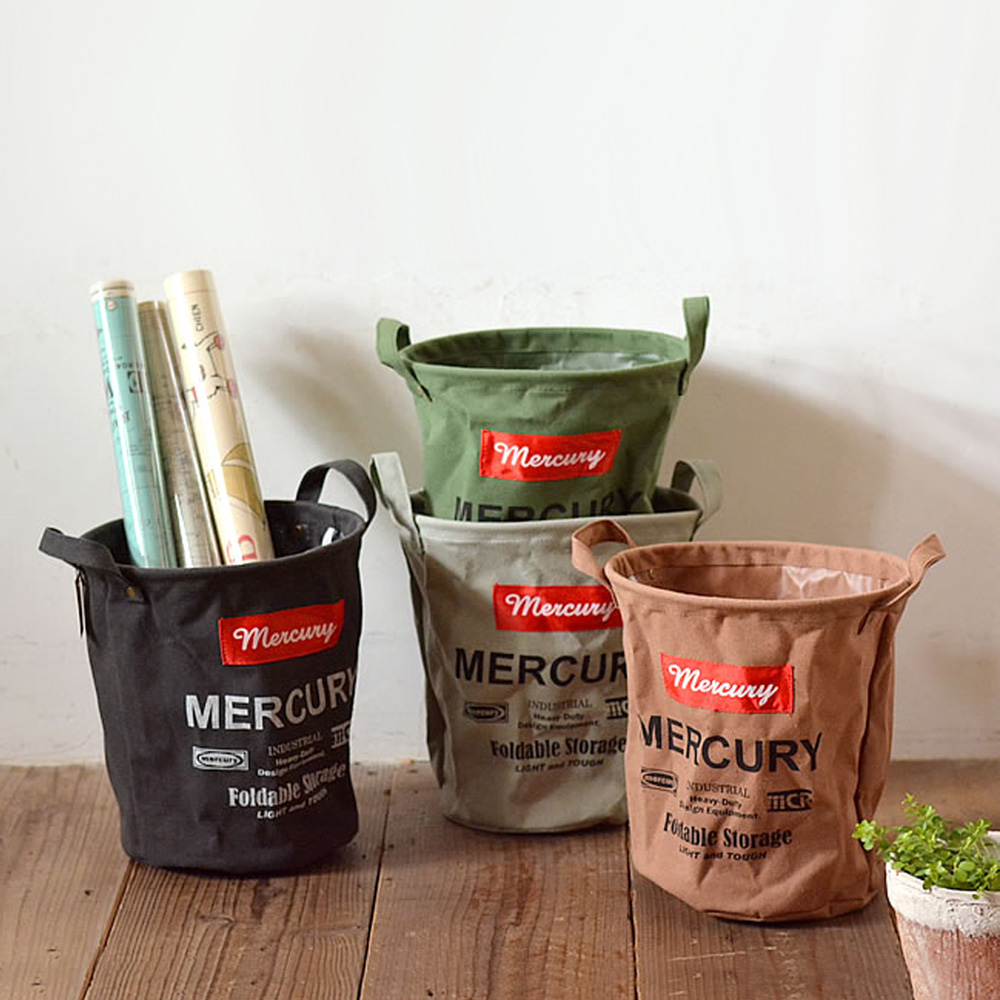 MERCURY|美式復古風格多功能防水收納桶 - 圓桶 M