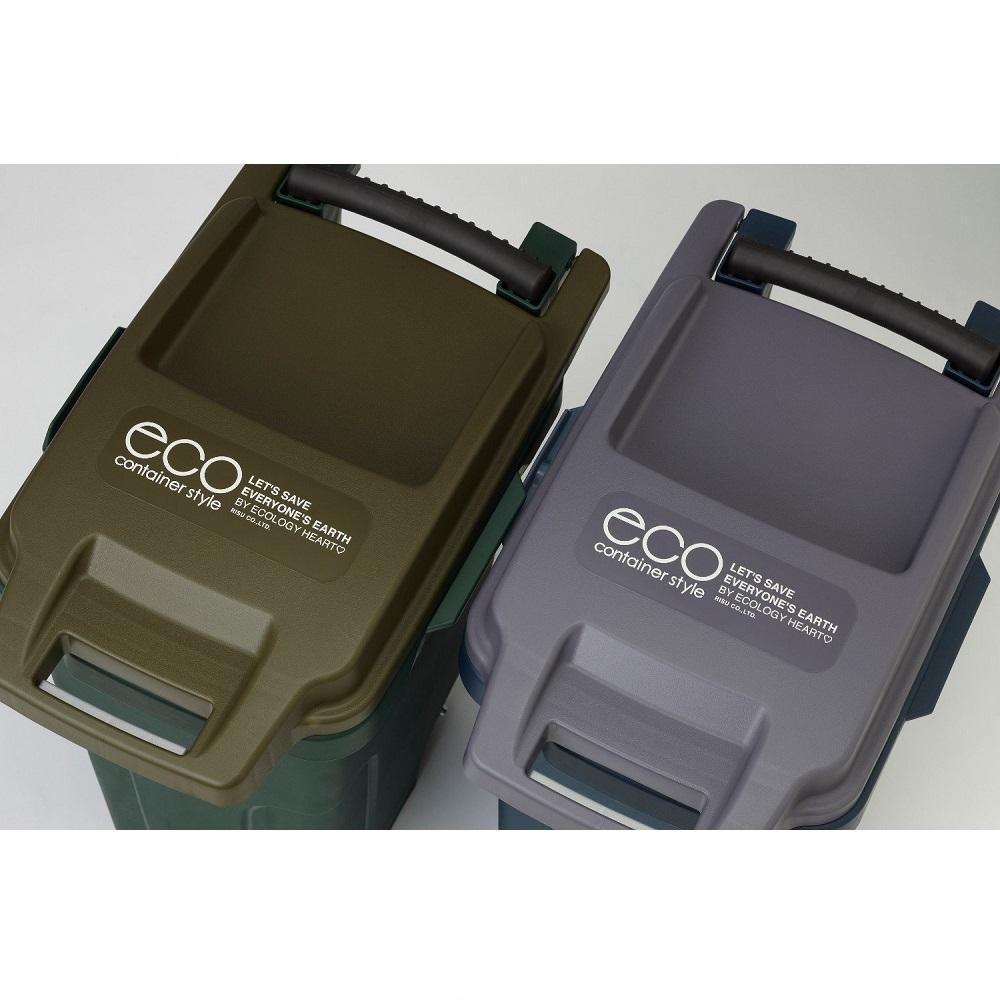eco container style|機能型拉桿垃圾桶 45L-橄欖黃綠