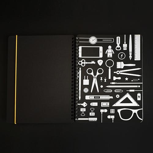 booxi | 筆具本(斜紋黃) PenBox Notebook (Twill yellow )