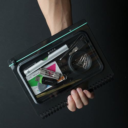 booxi   筆具本(條紋綠) PenBox Notebook (stripe green)