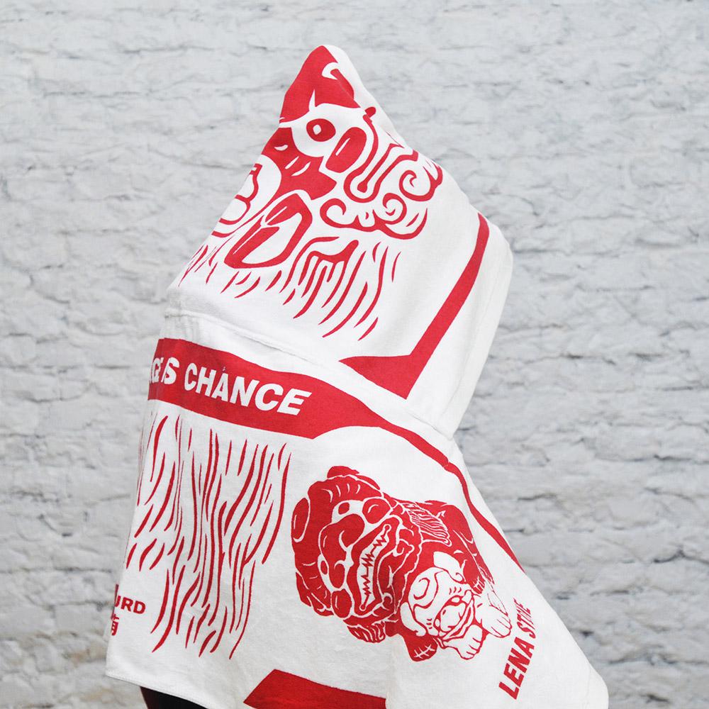GOURD 葫|舞獅連帽毛巾