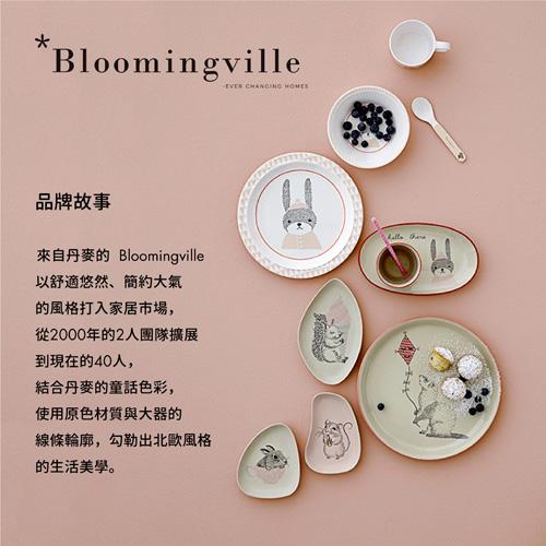Bloomingville 北歐森林 家族瓷盤組(粉白)