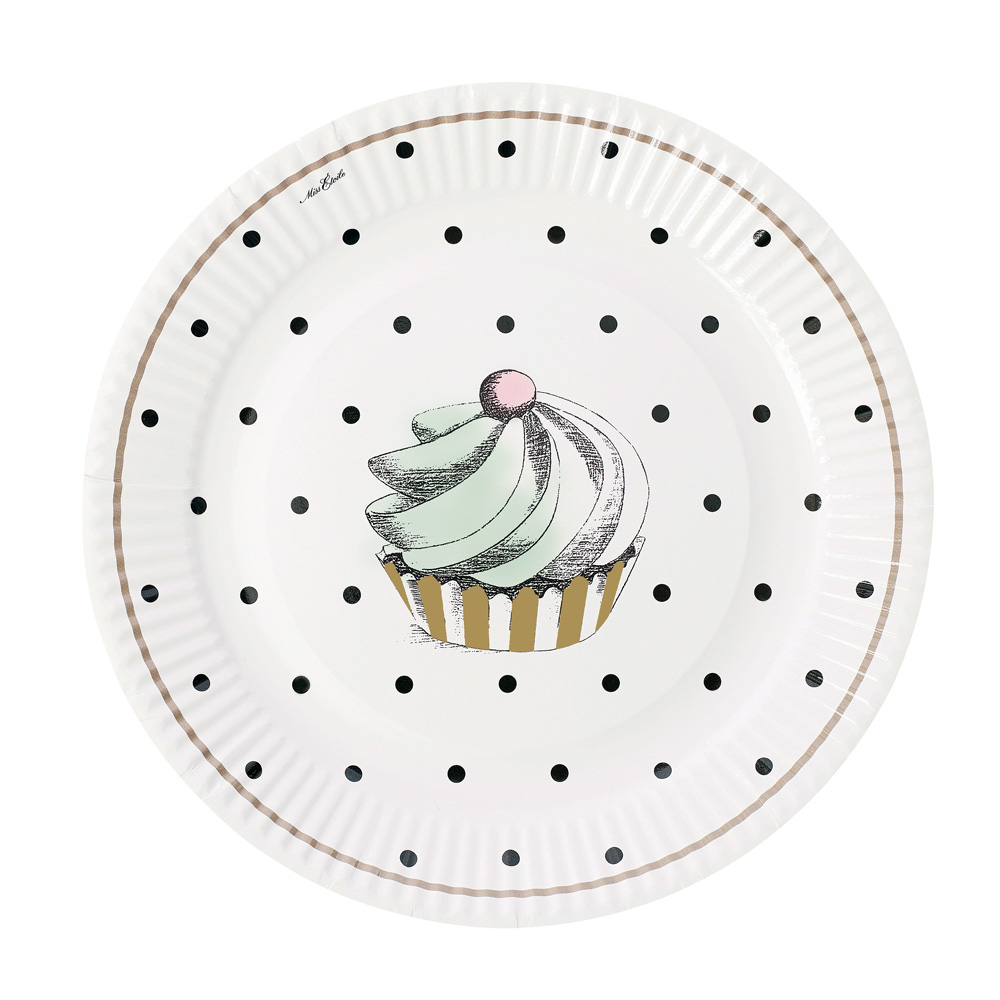 Miss Étoile|黑點蛋糕紙盤