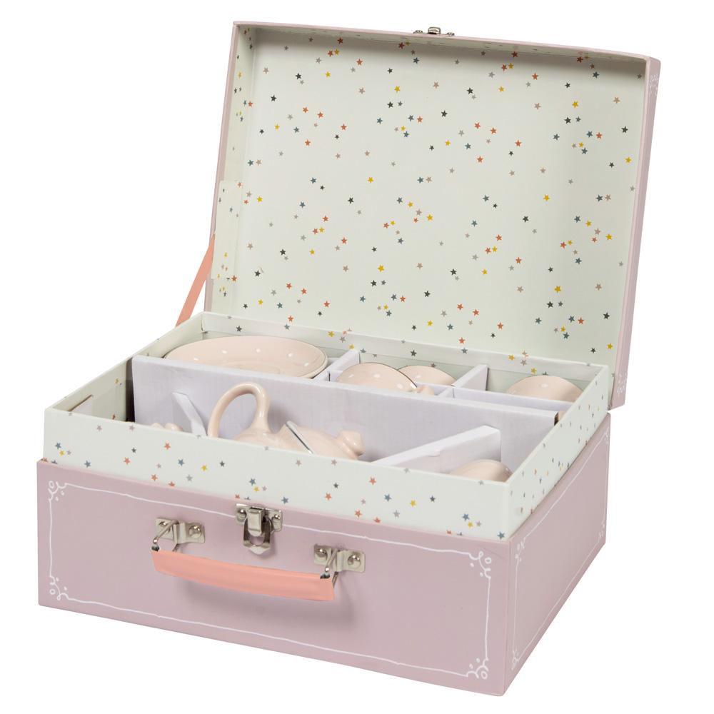 法國 Moulin Roty 粉紅瓷器茶具禮盒組