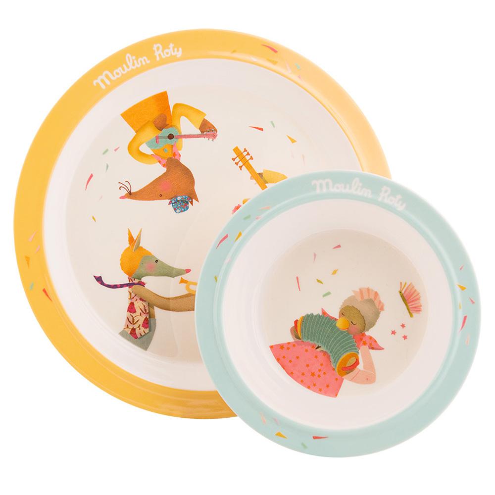 法國 Moulin Roty|Tartempois 安全杯盤禮盒組 (盤、碗、杯三件組)