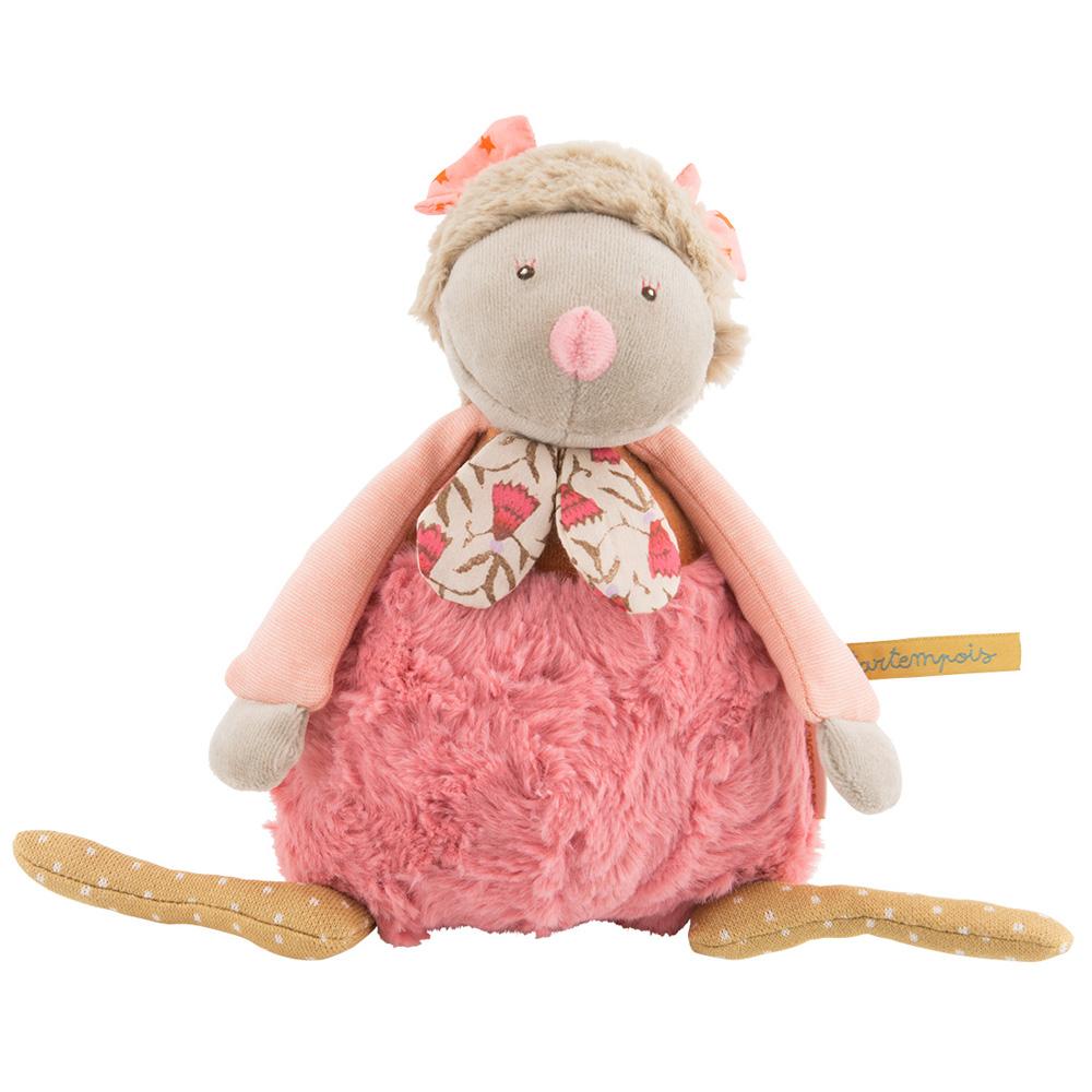 法國 Moulin Roty|Tartempois 粉紅小雞音樂安撫娃娃
