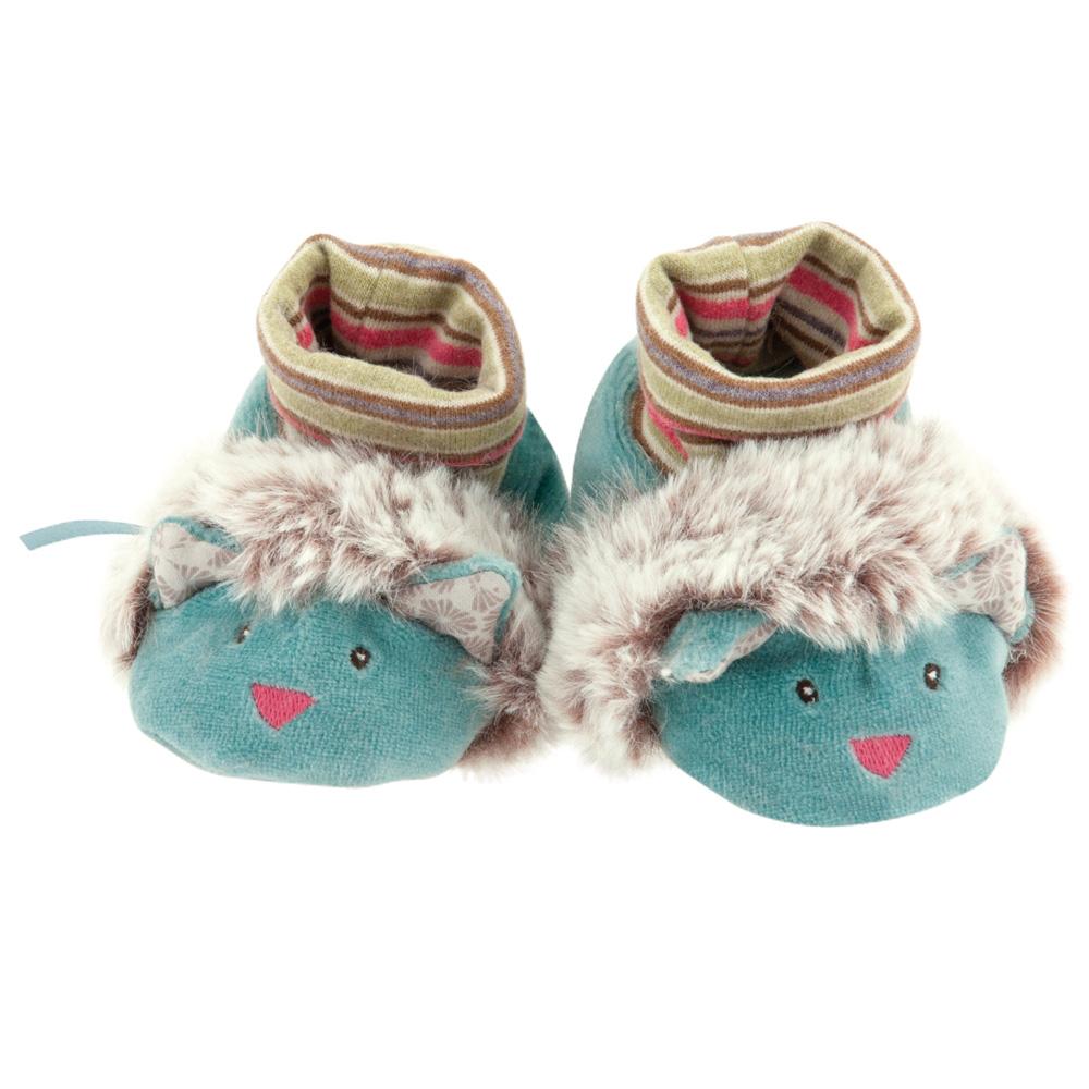 法國 Moulin Roty 帕奇寶寶專用飽暖鞋套禮盒組 0-6個月