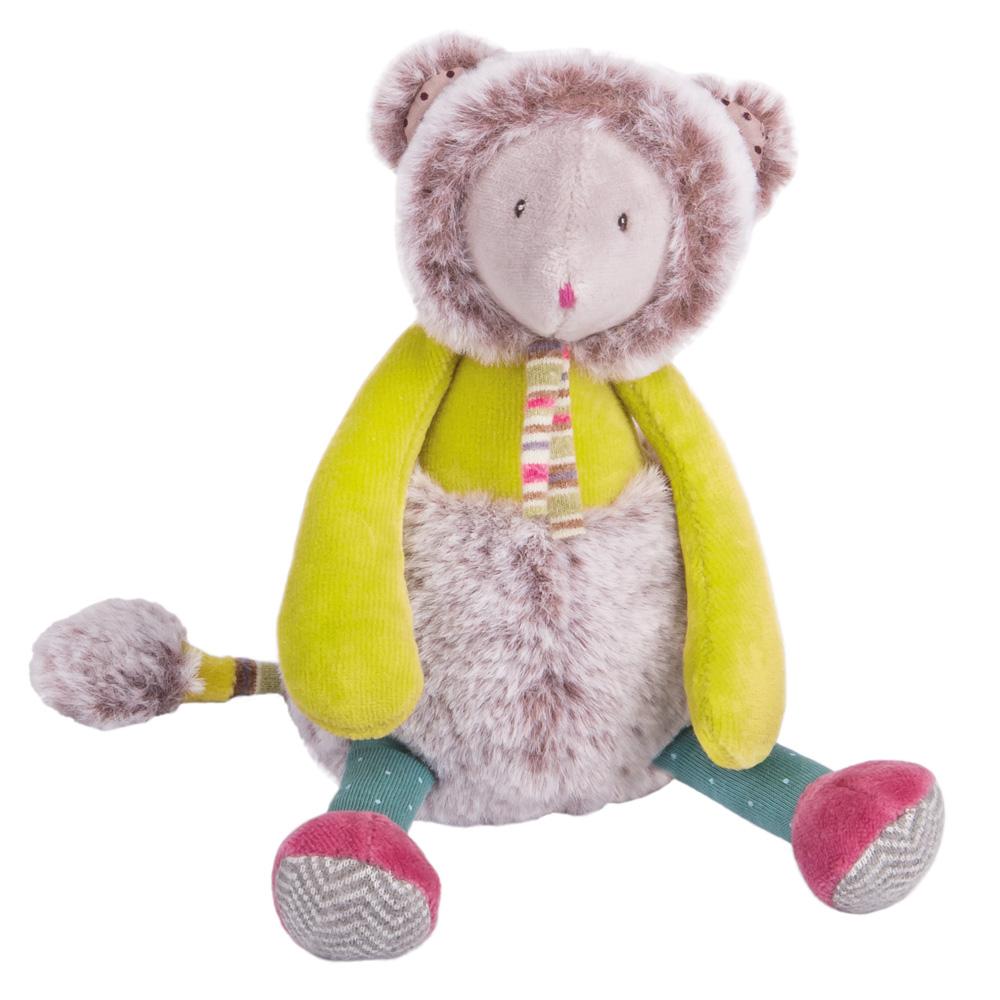 法國 Moulin Roty|帕奇小綠鼠安撫娃娃 21cm