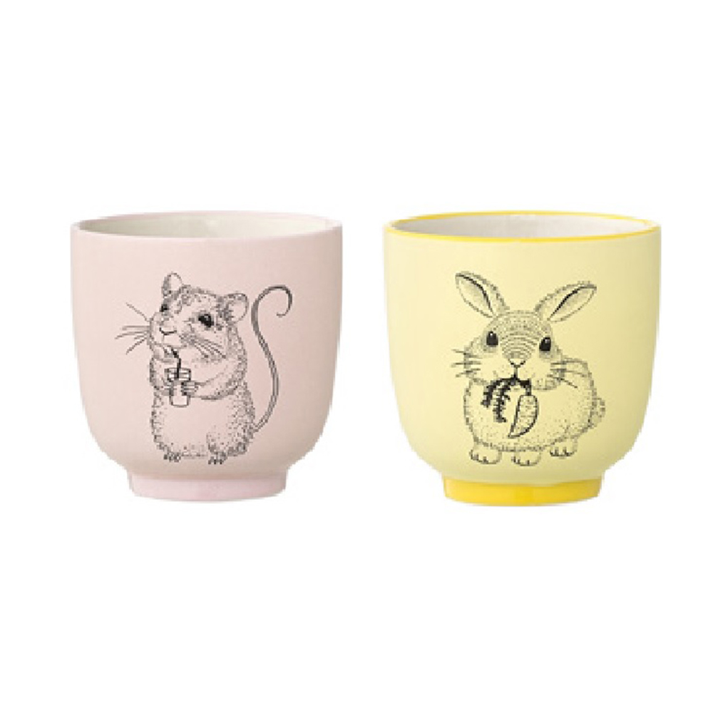 Bloomingville|北歐森林 老鼠妙妙&兔子娜娜 茶杯兩件組