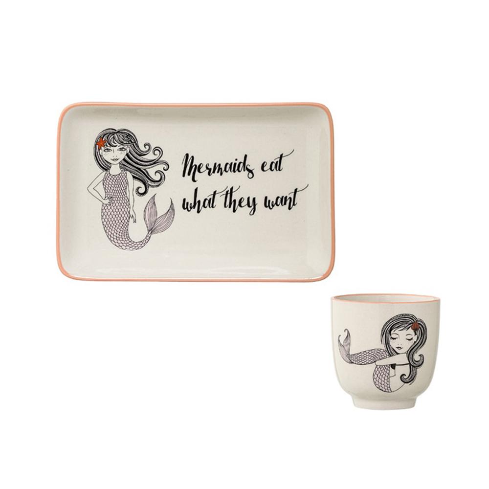 Bloomingville|夢境童話 人魚公主 茶杯&瓷盤 兩入組