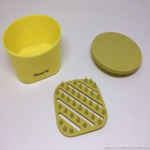 HUAN W.|Soapmate 旅行皂盒-檸檬黃