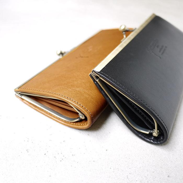 CLEDRAN 優雅氣質 日本皮革珠扣長夾