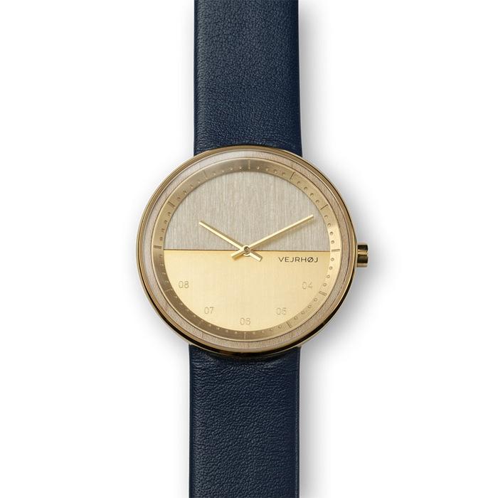 VEJRHOJ|丹麥霍伊經典原木手錶-Element 藍色-美洲楓木