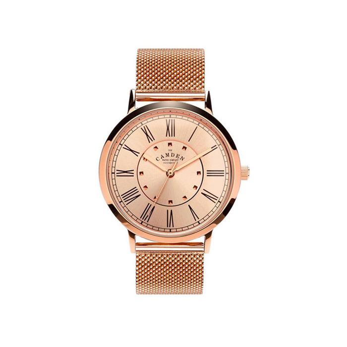 Camden Watch|優雅魅力 英倫羅馬數字腕錶/金屬錶帶(玫瑰金)