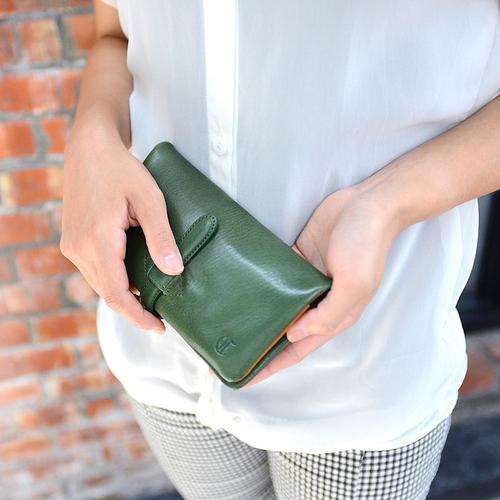 CLEDRAN|真皮手工皮帶扣長夾