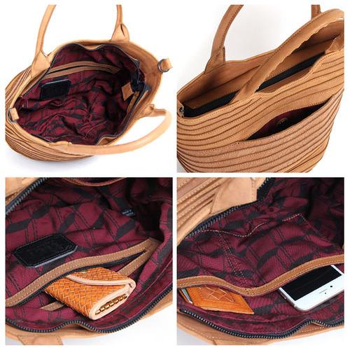 ROBITA|軟牛皮編織跳色2WAY手提包