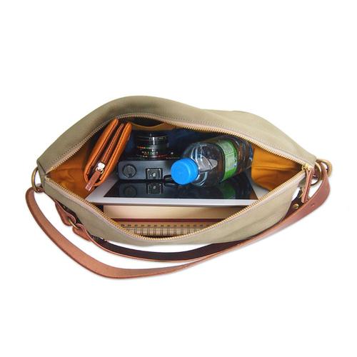 CLEDRAN 手工真皮簡約兩用側背包