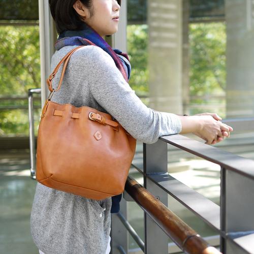 CLEDRAN|日本雜誌款  簡約牛皮肩/側背兩用包