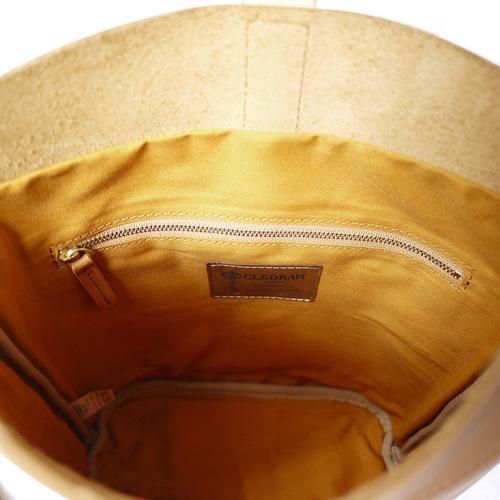 CLEDRAN 典藏曲線款 質感復古味磁鐵釦牛皮隨身側/肩兩用包