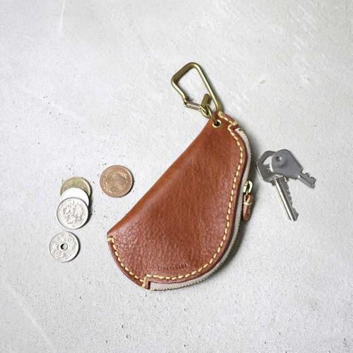 TEHA'AMANA|圓弧趣味牛皮鑰匙零錢包