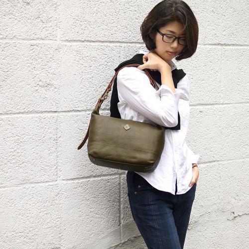 CLEDRAN|日本簡約知性通勤皮革肩背包側背包兩用包