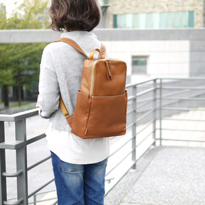 FOLNA|日系軟牛植鞣革 手作質感貼身手提/後背包