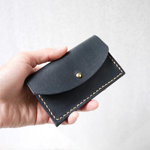 HANDIIN|質感收納  雙層手作牛皮卡片/零錢包