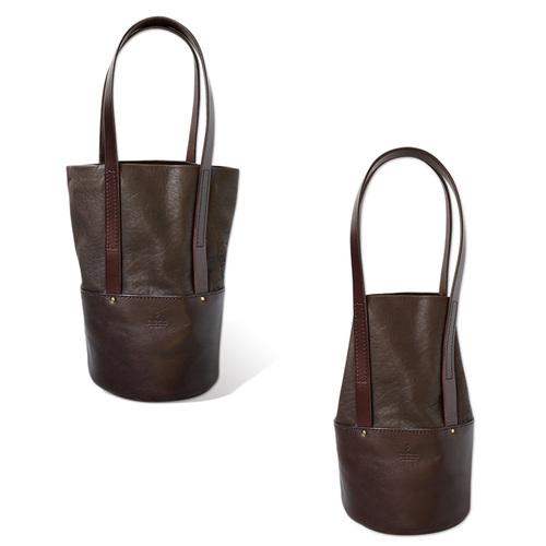 TEHA' AMANA|設計推薦款  簡約質感牛皮滾筒手提包/側背包