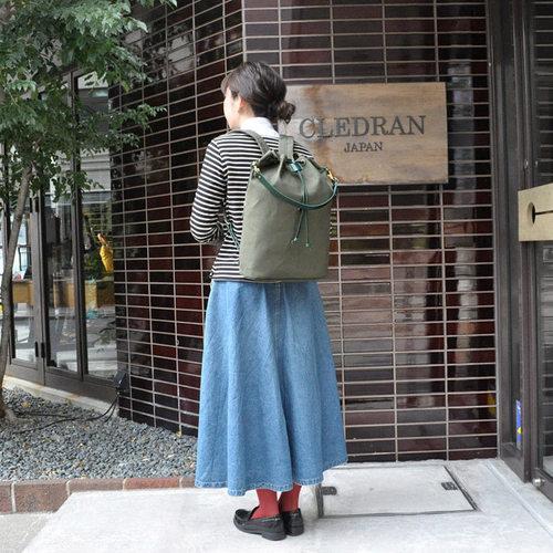 CLEDRAN|原創設計 職人牛皮抽繩百搭2WAY手提/後背包