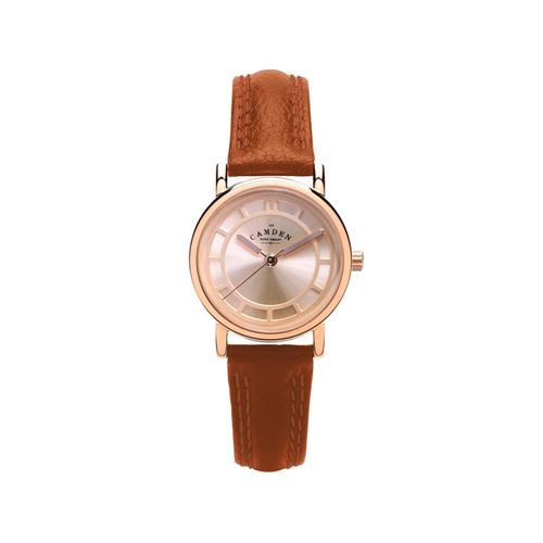 Camden Watch|NO24系列 純英國血統 玫瑰金溫潤簡約真皮腕錶