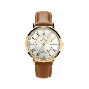 Camden Watch|NO27系列 純英國血統 金色英倫羅馬數字真皮腕錶