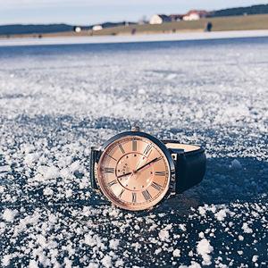 Camden Watch|NO27系列 純英國血統 玫瑰金英倫羅馬數字真皮腕錶