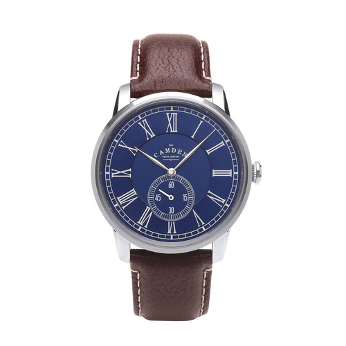 Camden Watch|NO29系列 純英國血統 單眼秒針大錶盤紳士棕色真皮腕錶